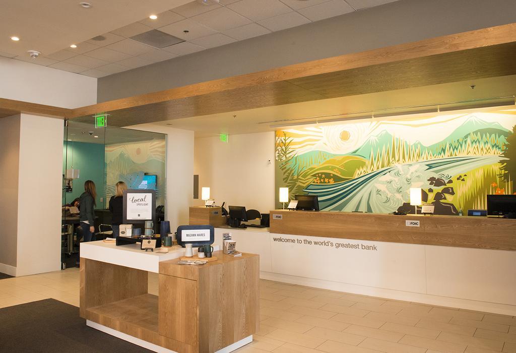 Umpqua Bank, reinventando la oficina bancaria: espacio dedicado a hablar del negocio de un cliente